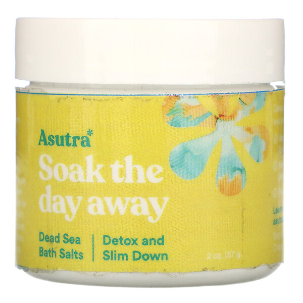 Asutra Soak The Day Away Dead Sea Bath Salts Detox and Slim Down 2 oz (57 g)
