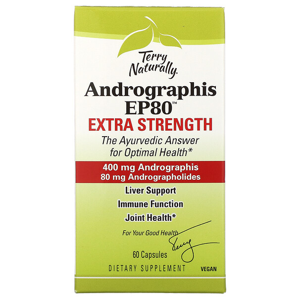 Terry Naturally Andrographis EP80 Extra Strength 60 Capsules