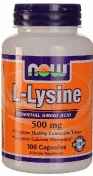 Now L-Lysine 500 мг 100 капсул