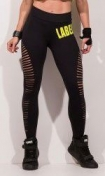LaBellaMafia Ripped Label Legging