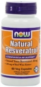 Now Natural Resveratrol 50 мг 60 капсул