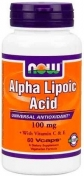 Now Alpha Lipoic Acid 100 мг 60 капсул