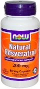 Now Natural Resveratrol 200 мг 60 капсул