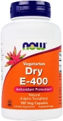 Now Dry Vegetarian E-400 d-alpha Tocopheryl 100 гелевых капсул