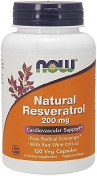 Now Natural Resveratrol 200 мг 120 капсул