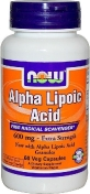 Now Alpha Lipolic Acid 600 мг 60 капсул
