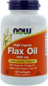 Now Flax Oil 1000 мг High Lignan 120 гелевых капсул