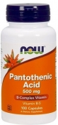 Now Pantothenic Acid 500 мг 100 капсул