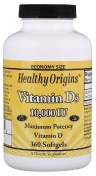 Healthy Origins Vitamin D3 10,000 Ме 360 гелевых капсул