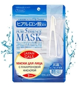 Japan Gals Pure5 Essential Mask Маска для лица с гиалуроновой кислотой, 7 шт