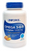Uniforce Omega 3-6-9 Complex 1200 мг 90 гелевых капсул