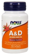 Now Vitamin A&D 10000/400 Ме 100 капсул