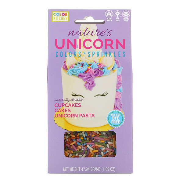 ColorKitchen Nature's Unicorn Colors & Sprinkles Set 1.69 oz (47.94 g)