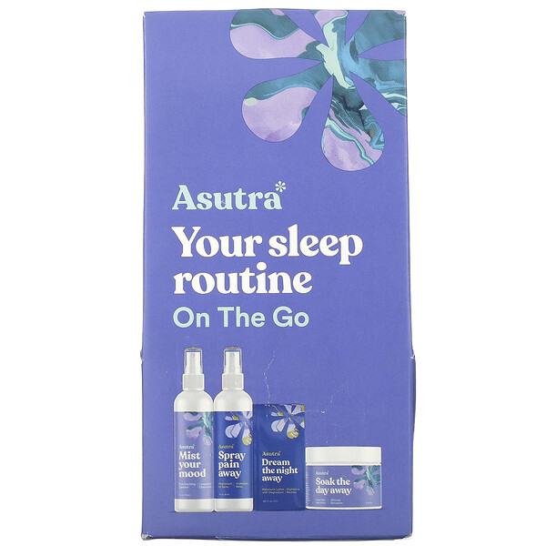 Asutra You Sleep Routine On The Go Travel Set 4 Piece Set
