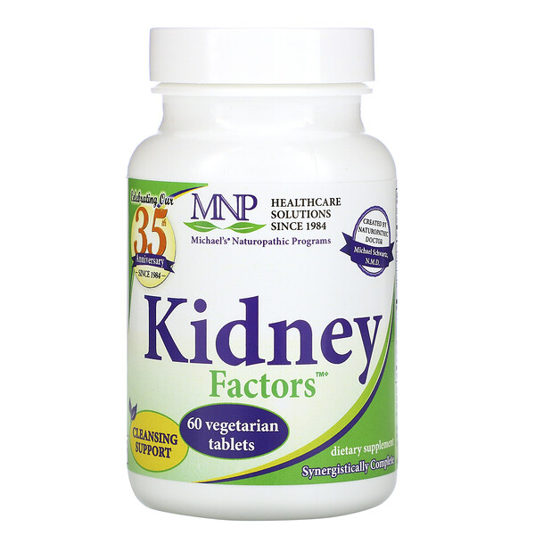 Michael's Naturopathic Kidney Factors 60 Vegetarian Tablets